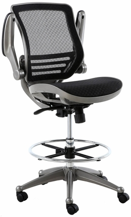 Harwick Evolve Heavy Duty Mesh Drafting Chair Gunmetal