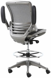 Harwick Evolve™ All Mesh Heavy Duty Drafting Chair - Gunmetal Finish [2250D-BK]