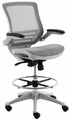 Harwick Evolve� All Mesh Heavy Duty Drafting Chair With Platinum Finish [2250D-GY]