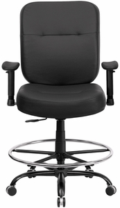 Big And Tall Office Chair Wl 735syg Bk Lea D Gg Office