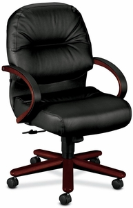 HON Mid Back Leather Office Chair 2192 Hon Office Chairs 588