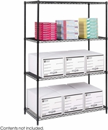 "Industrial Wire Shelving 48 x 24"" Black [5294BL]"