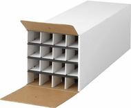 "Safco Roll File Compact 16 Compartment 37""D White [3098]"