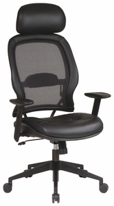 Space Seating Leather Air Grid Chair with Headrest [57906]