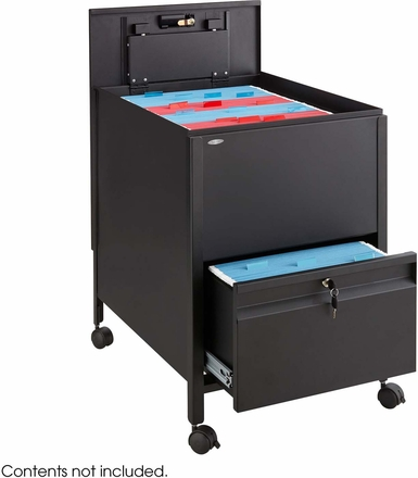 Locking Mobile Tub File With Drawer Black 5365bl