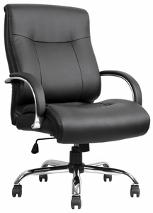 Lorell Deluxe And Tall Leather Office Chair Llr40206