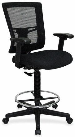 lorell high back mesh drafting chair llr43100 free shipping
