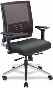 Lorell Mesh Back Office Chair with Leather Seat [90041]