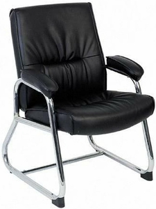 Lorell Sled Base Leather Guest Chair [60504]