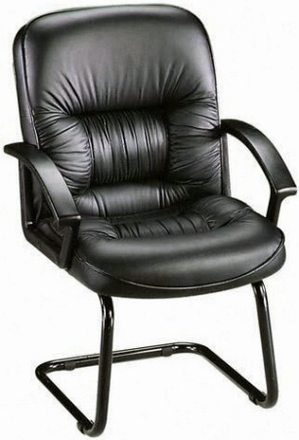 lorell tufted leather office guest chair 60114 free shipping