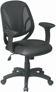 Work Smart Managers Faux Leather and Mesh Office Chair [EM20522-3U]