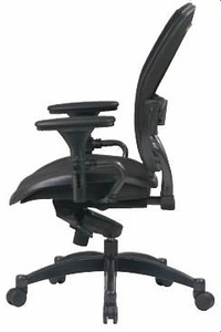Space Seating Professional Mesh Office Chair in Black/Gray [2787]