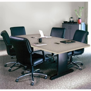 Mayline X Rectangular Conference Table Gray Nebula RRCGBLK - 72 conference table