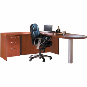 Mayline Aberdeen Office Desk Set Cherry At11lcr