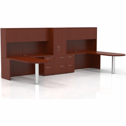 Mayline Aberdeen Office Desk Set Cherry At23lcr