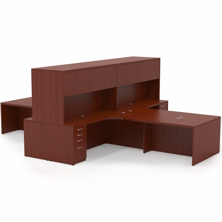 Mayline Aberdeen Office Desk Set Cherry At27lcr