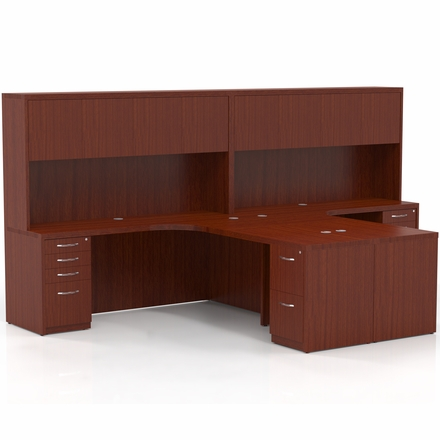 Mayline Aberdeen Office Desk Set Cherry At28lcr