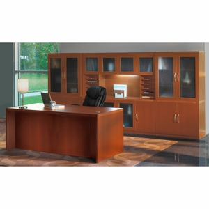 Mayline Aberdeen Office Desk Set Cherry At35lcr