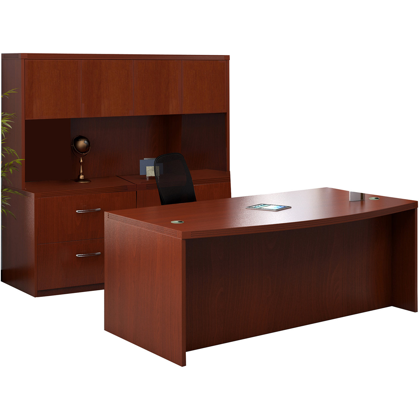 Awe Inspiring Mayline Aberdeen Office Desk Set Cherry At6Lcr Download Free Architecture Designs Scobabritishbridgeorg