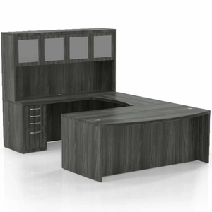 Mayline Aberdeen Office Desk Set Gray Steel At5lgs