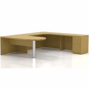 Mayline Aberdeen Office Desk Set Maple At13lma