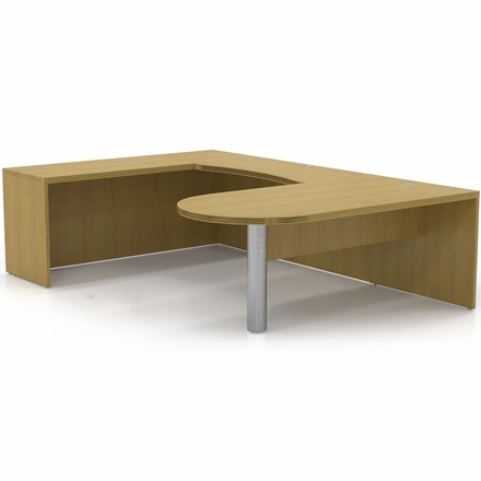 Mayline Aberdeen Office Desk Set Maple At14lma