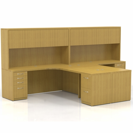 Mayline Aberdeen Office Desk Set Maple At28lma
