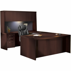 Mayline Aberdeen Office Desk Set Mocha At4ldc