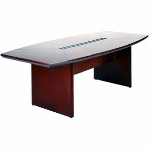 Mayline Corsica Conference Table BoatShaped Mahogany CTCMAH - Mayline corsica conference table