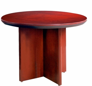 Mayline Corsica Conference Table Round Sierra Cherry CTRNDCRY - Mayline corsica conference table