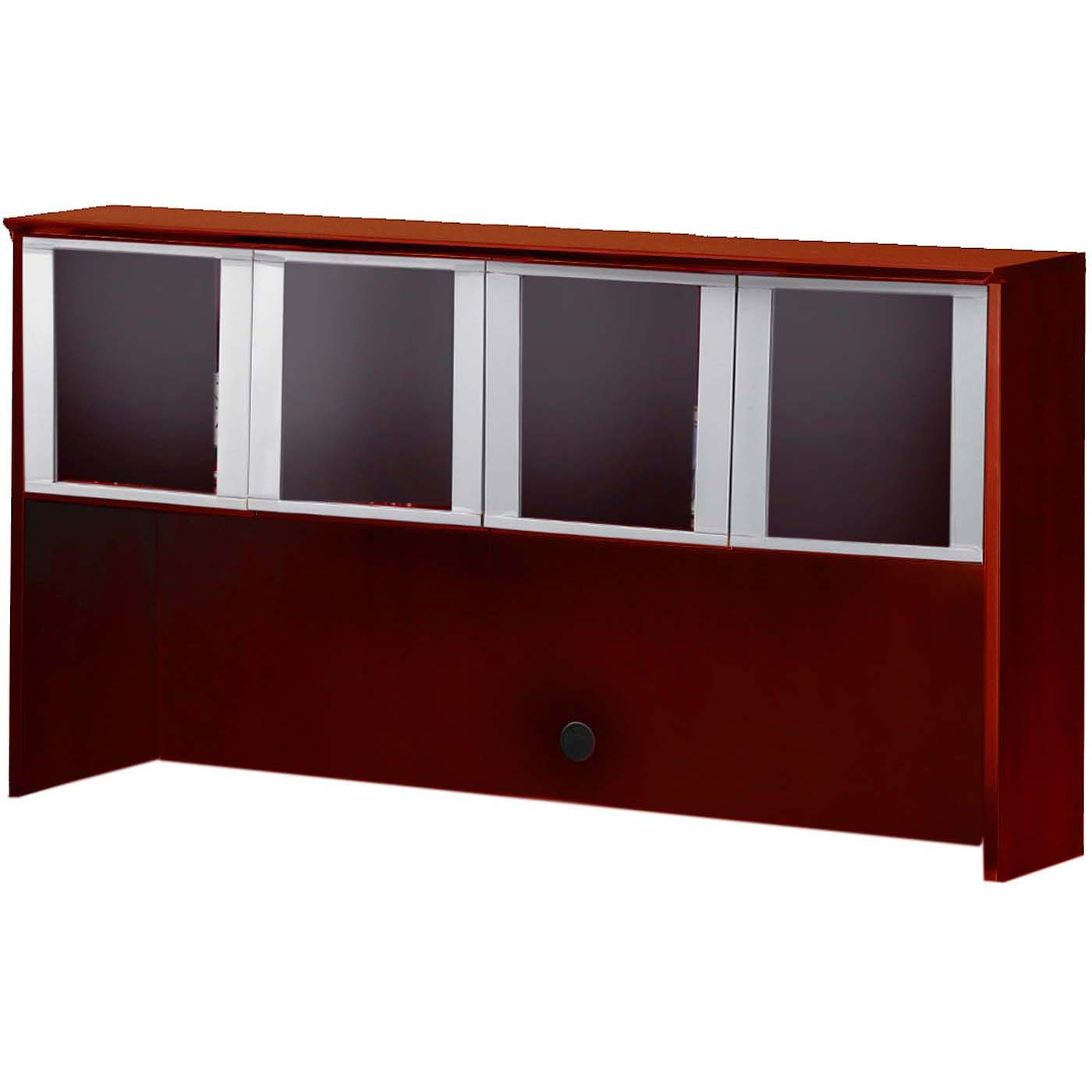 Mayline Corsica Hutch 72 Glass Doors Sierra Cherry Silver Chg72cry