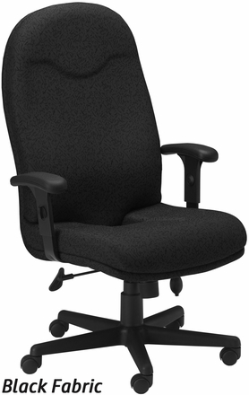 mayline ergonomic fabric office chair with coccyx cut out [9413ag]