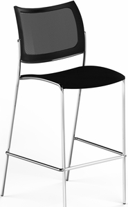 Mayline Escalate Mesh / Plastic Stacking Stool Set of 2 [EMS2MB]