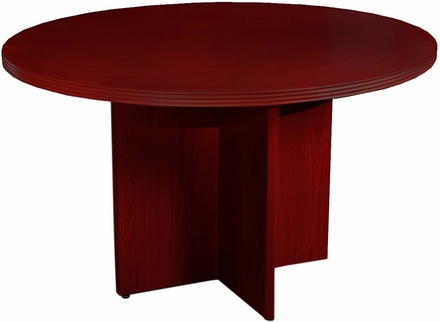 Mayline Luminary Round Conference Table Cherry Veneer RTC - Round conference table for 4