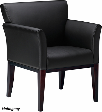mayline corsica leather guest chair [vsc9] free shipping and sale
