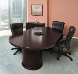 Mayline Mira Racetrack Conference Table Espresso MCTDBESP - Espresso conference table