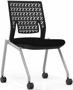 Mayline Thesis Training Chair Armless, Flex Back [KTX2SBBLK]