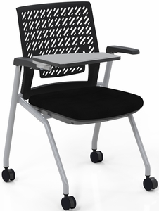 Mayline Thesis Training Chair Arms, Tablet, Flex Back [KTX3SBBLK]
