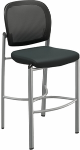 Mayline Valore Black Mesh / Fabric Stool [TSS2BB]