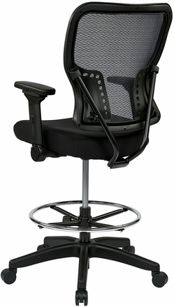 Office Star Mesh Drafting Stool With Arms 213 37n2f3d