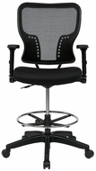 Space Seating Mesh Drafting Stool with Flip Arms [213-37N2F3D]