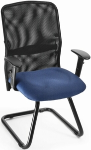 Mesh Guest Chair with Sled Base [612]