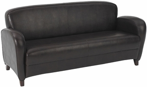 OSP Furniture® Mocha Brown Eco Leather Sofa [SL2373]