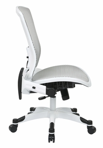 Space Seating® White Frame Mesh Office Chair Flip Up Arms [317W-W11C1F2W]