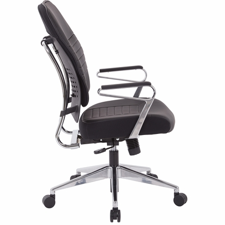 Office Star Bonded Leather Managers Chair in Black [32-E33P91A7]