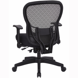 Office Star SpaceGrid Back Chair Memory Foam Mesh Seat in Black [529-M3R2N6F2]
