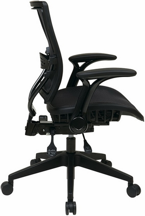 Space Seating All Mesh Office Chair with Flip Arms [67-77N9G5]
