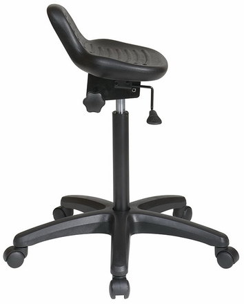 Work Smart Backless Sit-Stand Chair [KH206]