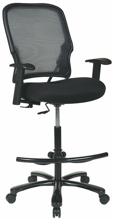 Space Seating Big and Tall Mesh Drafting Chair [15-37A720D]
