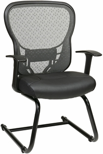 Space Seating Cantilevered Sled Base Mesh Guest Chair [529-3R2V30]